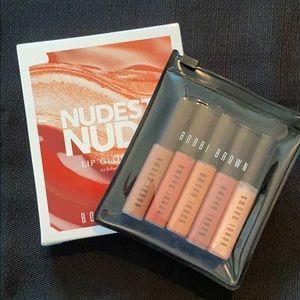 NWT Bobbi Brown Nudest Nudes Lip Gloss Kit